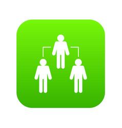 social network icon digital green vector image