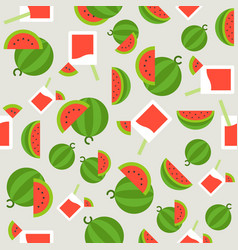 summer theme seamless pattern watermelon and vector image