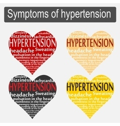 Symptoms of hypertension vector
