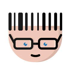 The european cartoon character with glasses vector