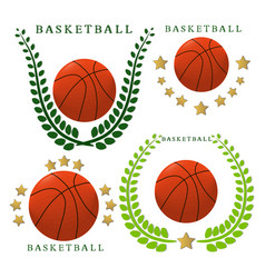 The theme basketball vector