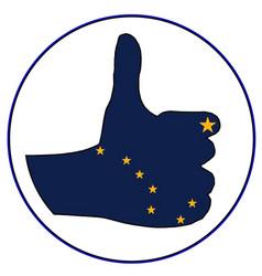 Thumbs up alaska vector
