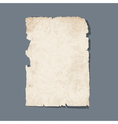 torn sheet old paper vector image