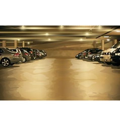Underground parking vector