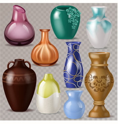 vase decorative classic pot and decor vector image