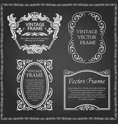 vintage decorative frames set vector image