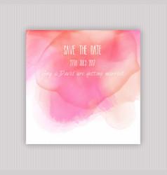 Watercolour save date invitation vector