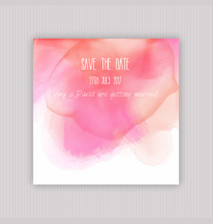watercolour save the date invitation vector image vector image