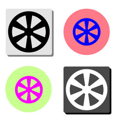 western wooden wheel flat icon vector image