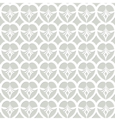 White dacorative seamless pattern vector