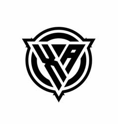 Xa logo with triangle shape and circle vector
