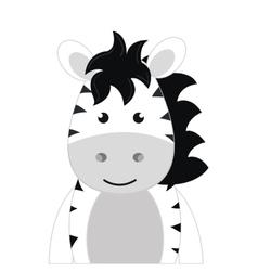 zebra animal cartoon vector image