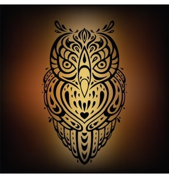 Decorative Owl Ethnic pattern vector image vector image