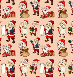 Seamless santa clause vector image