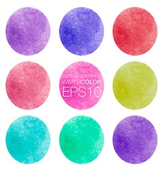 Watercolor colorful abstract texture vector image vector image