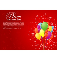 birthday background with balloons vector image vector image