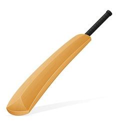 cricket bat 02 vector image vector image