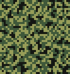 Digital pixel camouflage seamless pattern vector image vector image