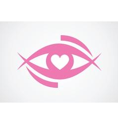 eye with heart vector image