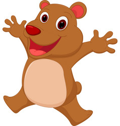 happy bear cartoon vector image