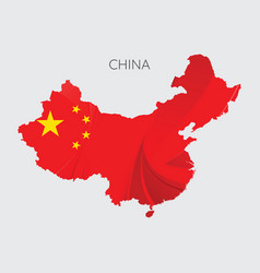 map of china vector image