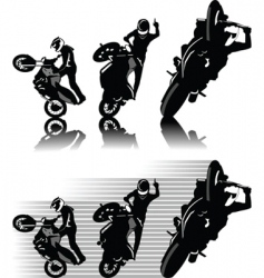 motorbike freestyle vector image vector image