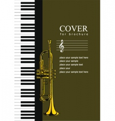 music brochure cover vector image
