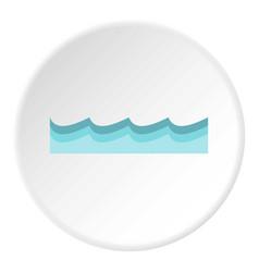 Water icon circle vector
