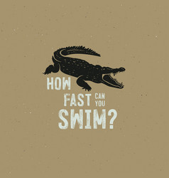 crocodile logo template symbol of alligator vector image