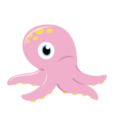 Cute pink Octopus vector image vector image