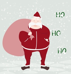 happy Santa Claus face greeting isolated with back vector image