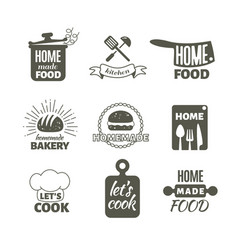 retro kitchen cooking at home and handmade vector image vector image
