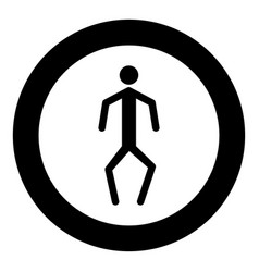 a man with crooked legs icon black color in vector image vector image