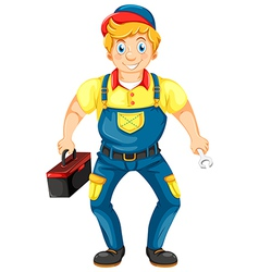 A smiling mechanic vector image vector image