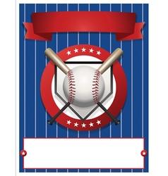 Baseball Flyer Template vector image