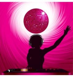 disco dj vector image