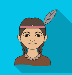 indianhuman race single icon in flat style vector image vector image