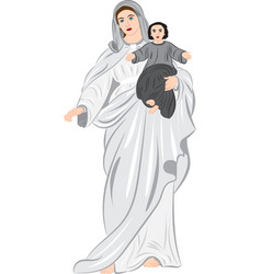 madonna with child in her arms vector image
