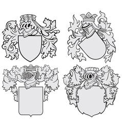set of aristocratic emblems No10 vector image