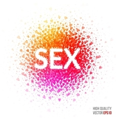 Sex - beautiful design element for greeting card vector image vector image