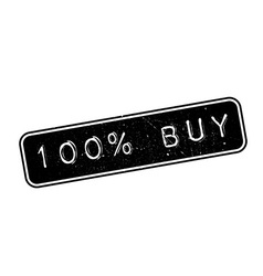 100 percent buy rubber stamp vector