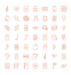 49 note icons vector image