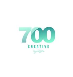 700 green pastel gradient number numeral digit vector