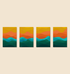 abstract art mountain graphic geometric vector image