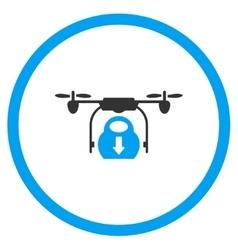 Airdrone Drop Down Cargo Icon vector image