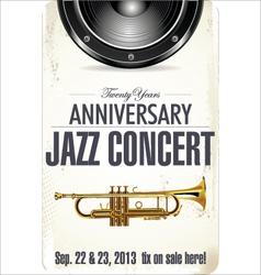 Anniversary jazz concert poster vector