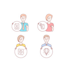 approved document timer and communication icons vector image