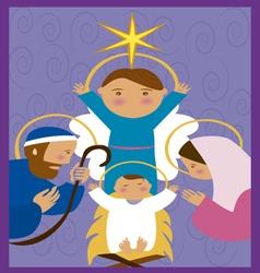 Baby-Jesus-in-a-manger 10 vector image