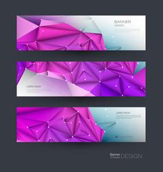banner set design network background vector image