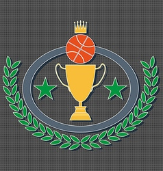 Basketball Golden Goblet and Crown vector